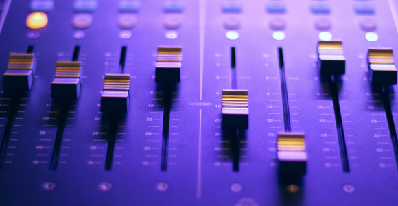 Soundboard up close