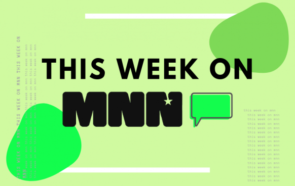 This week on MNN 2 Circles and Text with green shades