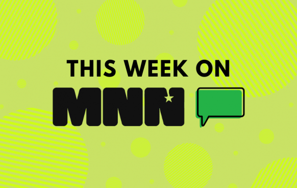This Week on MNN 3 with striped circle pattern in background