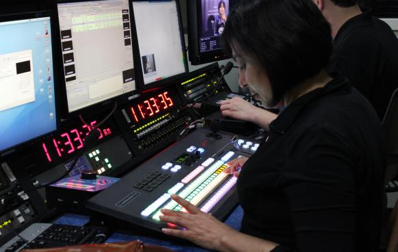 Producers in Control Room
