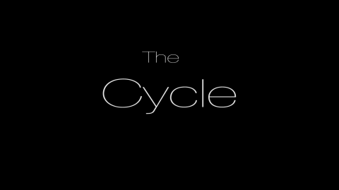 The Cycle logo with black background