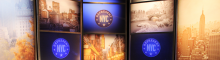 REP NYC panel with NYC skyline and logo